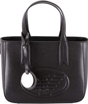 Emporio Armani Faux Leather Top Handles Bag