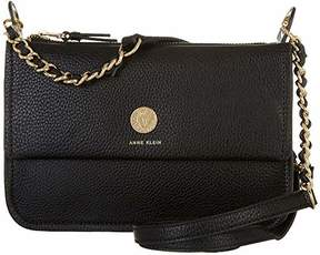 Anne Klein Split Top Zip Crossbody