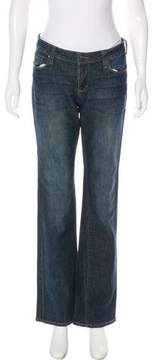 DKNY Mid-Rise Flared Jeans
