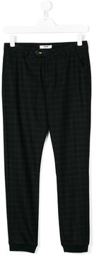 MSGM tartan fitted trousers
