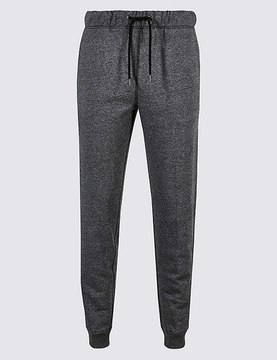 Marks and Spencer Cotton Rich Cuffed Hem Joggers