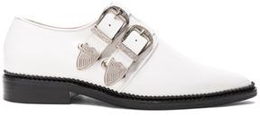 Toga Pulla Leather Oxfords in White.