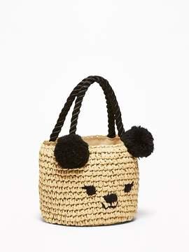 Old Navy Straw Critter Bag for Toddler Girls