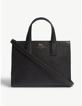 Kurt Geiger London Black Practical Saffiano Leather Tote Bag