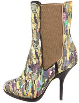 Dries Van Noten Printed Ankle Boots