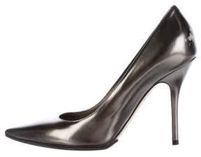 Christian Dior Metallic Pointed-Toe Pumps