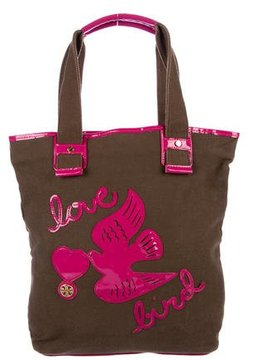 Tory Burch Love Bird Canvas Tote - WHITE - STYLE