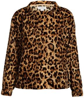 Velvet by Graham & Spencer Moselle leopard-print velvet top