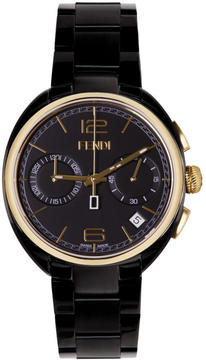 Fendi Black and Gold Momento Watch