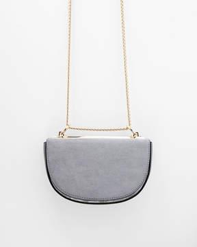 Express Half Moon Chain Strap Crossbody Bag