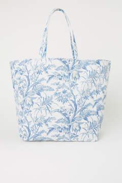 H&M Canvas Shopper - Blue