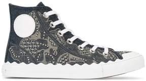 Chloé Kyle denim hi-top sneakers