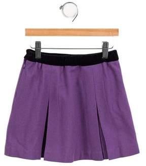 Oscar de la Renta Girls' Wool Pleated Skirt