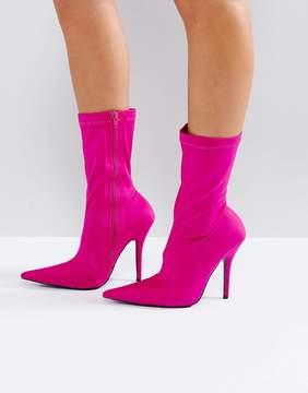 Public Desire Danger Heeled Ankle Boots