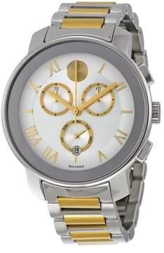Movado Bold Silver Dial Two-tone Men's Quartz Watch 3600280