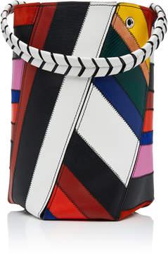 Proenza Schouler Hex Medium Patchwork-Effect Leather Bucket Bag