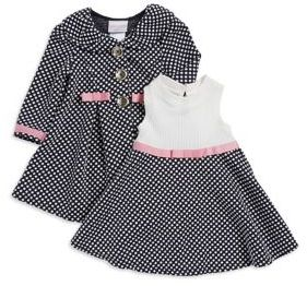 Iris & Ivy Baby Girl's Two-Piece Polka Dot Jacket and Dress Set