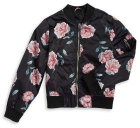 Urban Republic Girl's Rose Bomber Jacket
