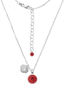Ball Louisville Cardinals Crystal Sterling Silver Team Logo & Pendant Necklace