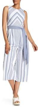 Eliza J Chevron & Stripe Jumpsuit