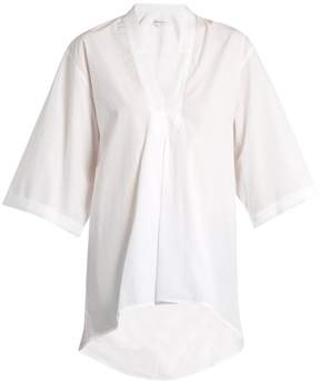 Amanda Wakeley Signature Lindbergh V-neck cotton shirt