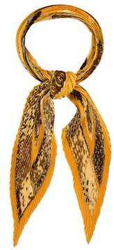 Hermes Persona Plisse Silk Scarf