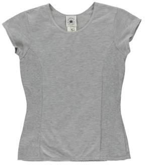 Converse Womens Scoop Neck T-Shirt Grey