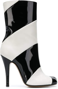 Maison Margiela striped tabi ankle boots