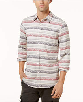 American Rag Men's Geometric Striped Shirt, Created for Macy's