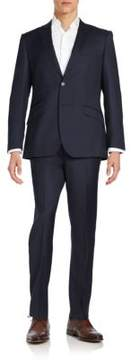English Laundry Regular-Fit Peaked-Lapel Wool Suit