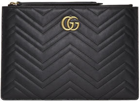 Gucci Black GG Marmont 2.0 Pouch