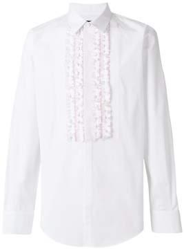 DSQUARED2 ruffled bib shirt