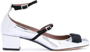 Tabitha Simmons metallic bow pumps
