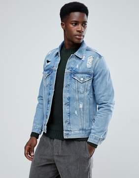 MANGO Man Denim Jacket With Rips