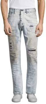 PRPS Demon Slim Straight Distressed Jeans