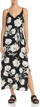 Aqua Floral Print Crisscross Maxi Dress - 100% Exclusive
