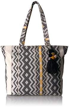 T-Shirt & Jeans Printed Tote with Pom