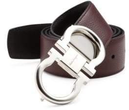 Salvatore Ferragamo Leather Double Gancini Buckle