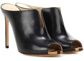 Francesco Russo Leather mules