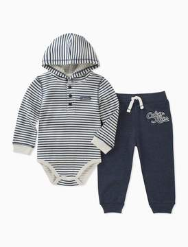 Calvin Klein baby boys 2-piece striped hoodie jogger set