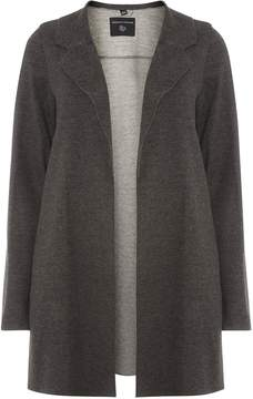 Dorothy Perkins Charcoal Knitted Coat