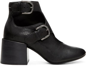 MM6 MAISON MARGIELA Black Cut-Out Boots