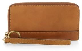 Frye Women's Ilana Harness Phone Leather Zip Wallet - Brown