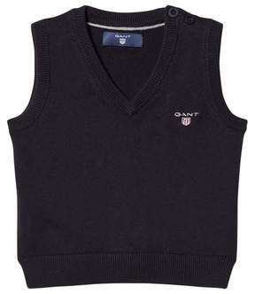 Gant Navy V Neck Knit Vest