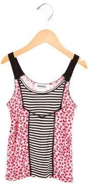 Sonia Rykiel Girls' Strawberry Print Sleeveless Top