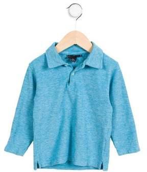 Oscar de la Renta Girls' Knit Pointed Collar Top