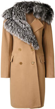 Ermanno Scervino fur collar coat