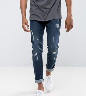 Blend of America Cirrus Skinny Fit Jean Ripped Dark Wash