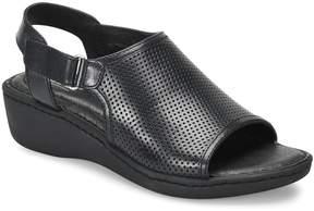 Børn Salvia Perforated Wedge Sandals