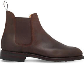 Crockett Jones Crockett & Jones Distressed leather Chelsea boots